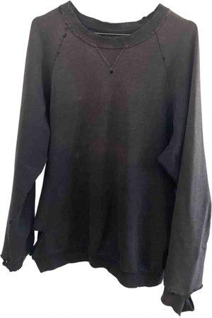 RAF SIMONS Anthracite Cotton Knitwear & Sweatshirts