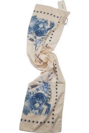 Alexander McQueen Ecru Synthetic Scarves