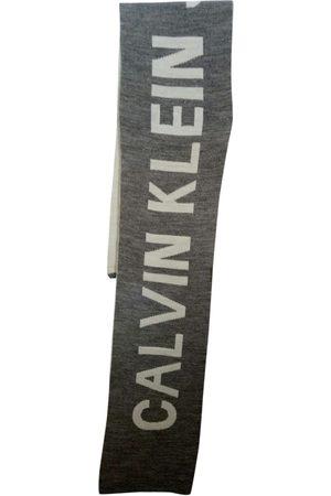 Calvin Klein Grey Wool Scarves