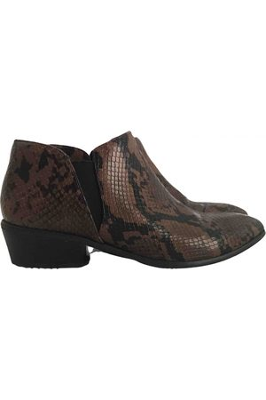 Cortefiel Leather Ankle Boots