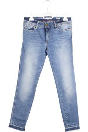 Salsa Women Pants - Navy Cotton Trousers