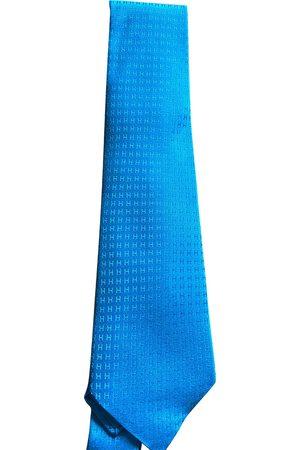 Hermès Men Neckties - Turquoise Silk Ties