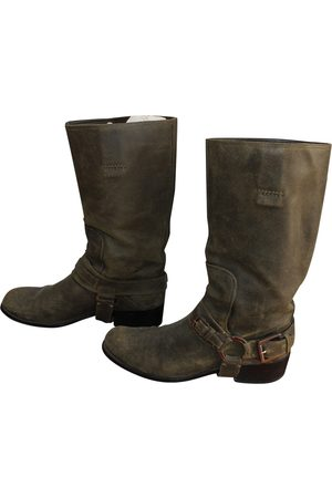 Dior Khaki Suede Boots