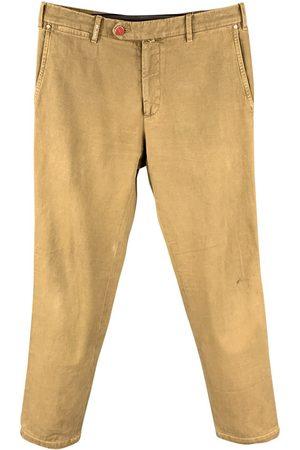 Kiton Men Shorts - Khaki Cotton Shorts
