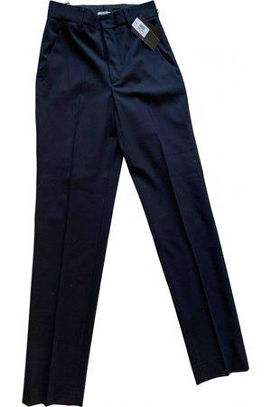 Miu Miu Navy Wool Trousers