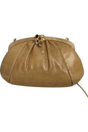 Judith Leiber Camel Lizard Clutch Bags