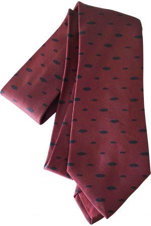 Hermès Men Neckties - Burgundy Silk Ties
