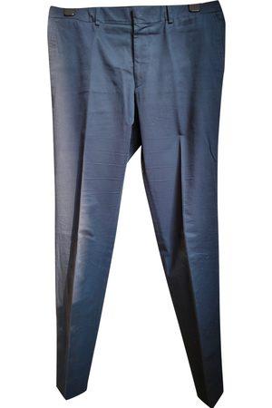 Hermès Navy Cotton Trousers