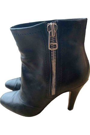 Michel Perry Leather Ankle Boots