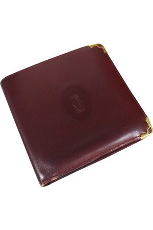 Cartier Men Wallets - Burgundy Leather Small Bags\, Wallets & Cases