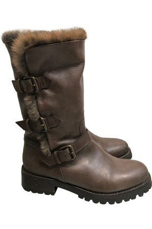 SARTORE Leather biker boots