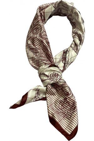 Hermès Burgundy Silk Scarves