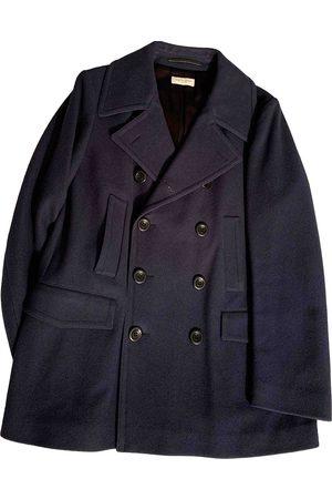 DRIES VAN NOTEN Navy Wool Coats