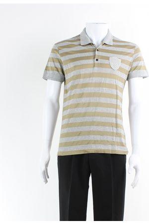 Dolce & Gabbana Men Polo Shirts - Grey Cotton Polo Shirts