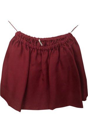 Miu Miu Silk mini skirt