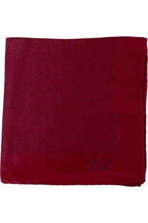 Charvet Burgundy Silk Scarves & Pocket Squares