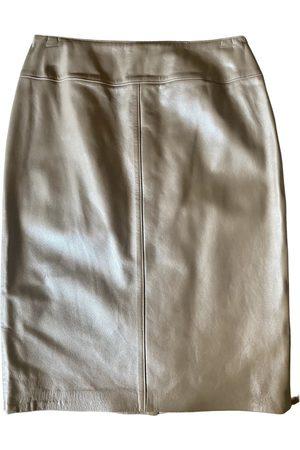 Escada Leather mid-length skirt