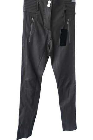 SLY010 Ecru Leather Trousers