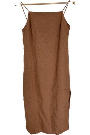 MATIN Camel Linen Dresses