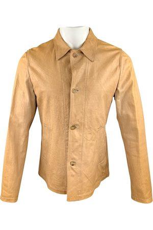 Jil Sander Ecru Leather Jackets