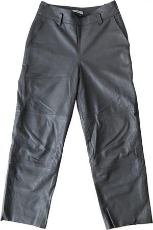 Gestuz Leather straight pants