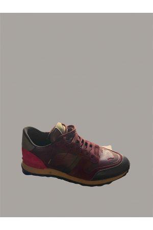 VALENTINO GARAVANI Men Sneakers - Burgundy Leather Trainers