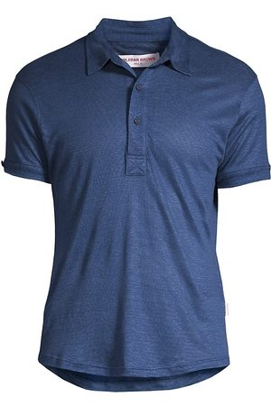 Orlebar Brown Men's Linen Polo Shirt - Wash - Size XXL
