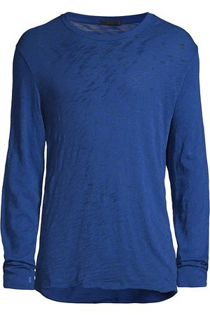 ATM Anthony Thomas Melillo Men Long Sleeve - Men's Long Sleeve T-Shirt - Royal - Size Small