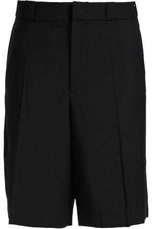 VALENTINO Men's Wool-Blend Bermuda Shorts - Nero - Size 36