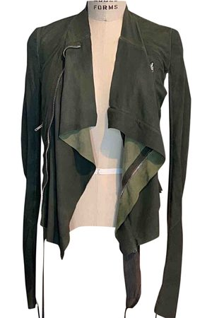 Rick Owens Suede Leather Jackets