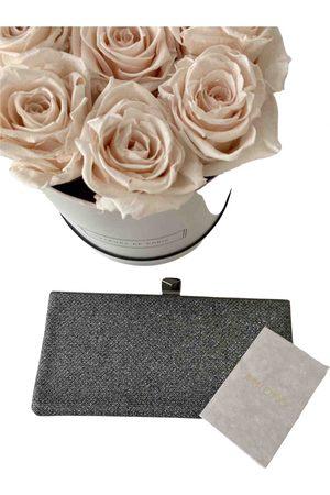 Jimmy Choo Grey Synthetic Clutch Bags