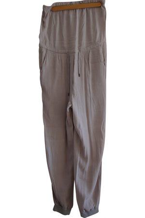 MM6 Grey Viscose Jumpsuits