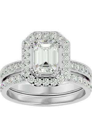 SuperJeweler 2.5 Carat Emerald Cut Diamond Bridal Engagement Ring Set in 14K (6.7 g) (G-H Color