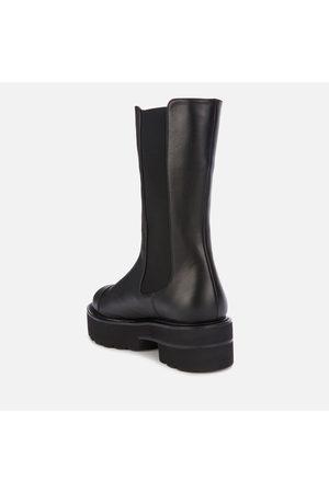 Stuart Weitzman Women Chelsea Boots - Women's Presley Ultralift Leather Mid Calf Boots