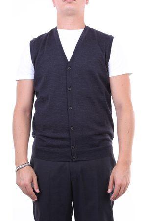 Halston Heritage Men Tank Tops - Knitted vest Men Anthracite