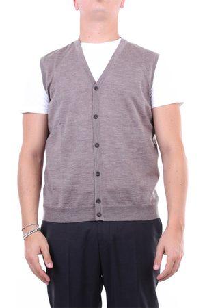 Halston Heritage Knitted vest Men Tortora