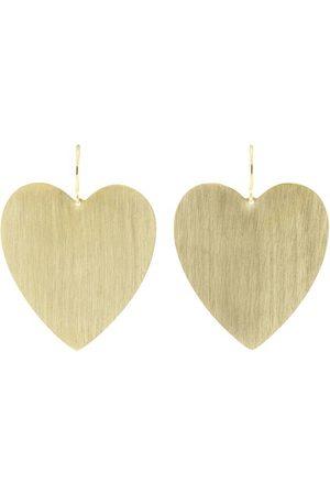 IRENE NEUWIRTH JEWELRY Women Earrings - Large Heart Shape Flat Earrings
