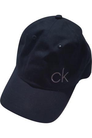 Calvin Klein Navy Cotton Hats & Pull ON Hats