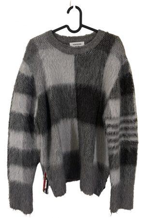 Thom Browne Men Sweatshirts - Grey Wool Knitwear & Sweatshirts