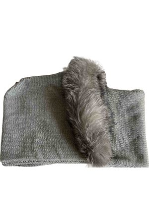 Max Mara Grey Wool Scarves