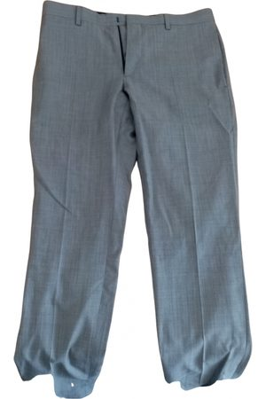 The Kooples Grey Leather Trousers