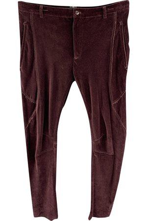 Lanvin Burgundy Cotton Shorts