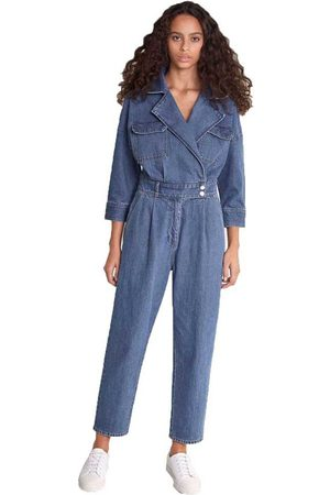 Salsa Jeans Denim Overall Collar Jumpsuit M