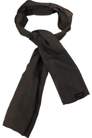 Lanvin Grey Linen Scarves & Pocket Squares