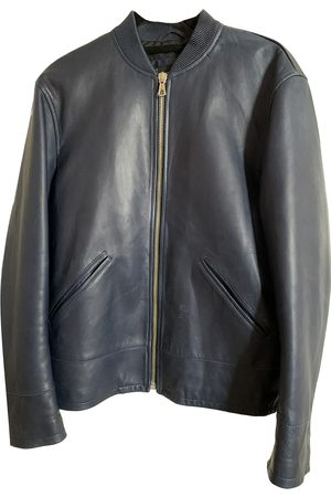 Dsquared2 Navy Leather Jackets