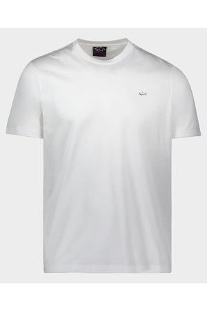 Paul & Shark Men Short Sleeve - Organic Cotton T-Shirt With Metallic Shark