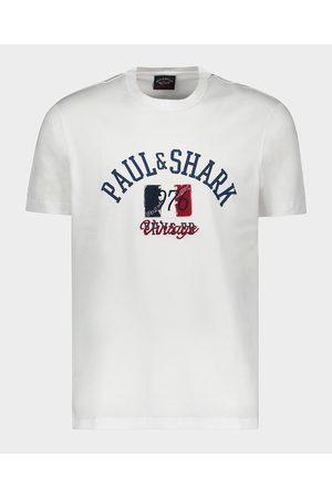Paul & Shark Organic Cotton T-Shirt With Vintage Logo