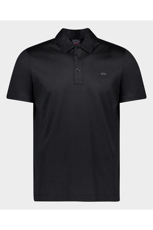 Paul & Shark Men Polo Shirts - Organic Cotton Jersey Polo With Metallic Shark