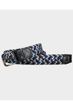 Paul & Shark Leather Trimmed Multicolor Elastic Belt
