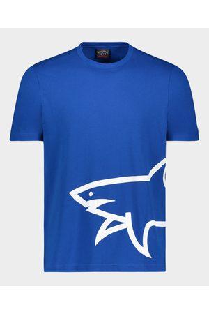 Paul & Shark Organic Cotton T-Shirt With Printed Mega Shark